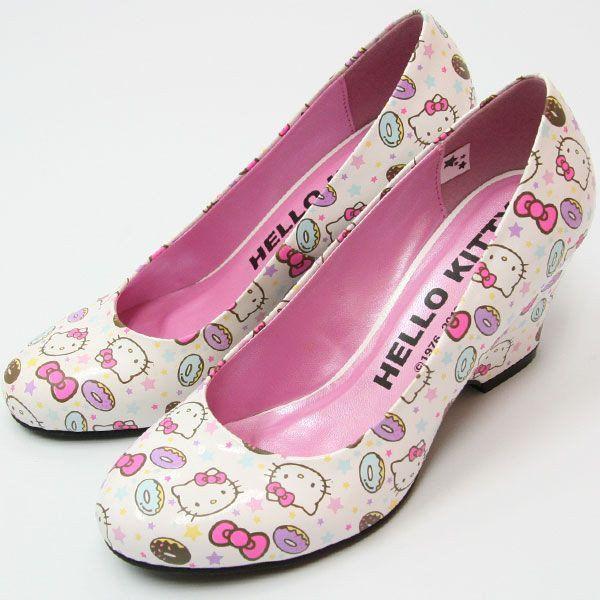 5e6c1b69f Hello Kitty Pumps High Heel Wedding Shoes Kawaii SANRIO Japan Import ...