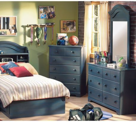 Summer Breeze Bedroom Set Blueberry