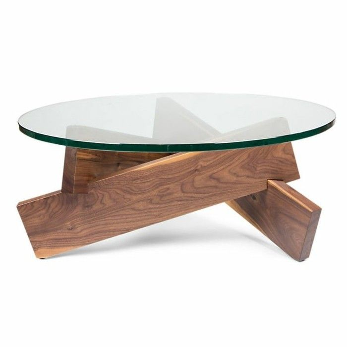 table basse salon verre