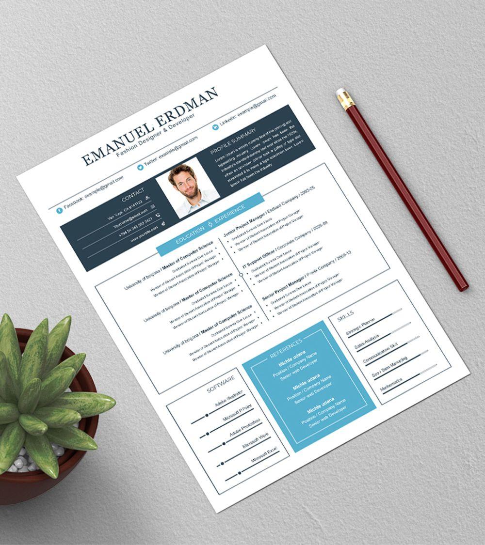 Resume Cv CleanResume MsWord SimpleResume