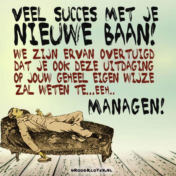 E.card nieuwe baan - nieuwe job, manager, managen, sofa, slapen, luieren