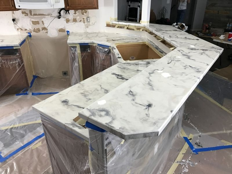 Gallery Of Finished Diy And Professional Epoxy Countertops Epoxy