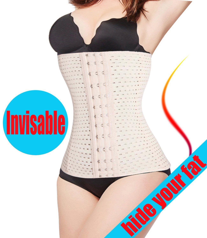 Clip zip waist trainer perfect floral design waist training cinchers - Bafully Waist Cincher Trainer Body Tummy Girdle Control Corset Sport Shaper Belly Plus Size