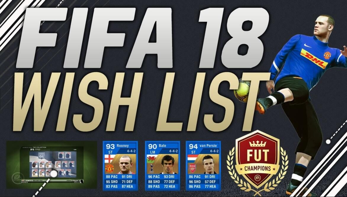 FIFA 18 Ultimate Team Wish List