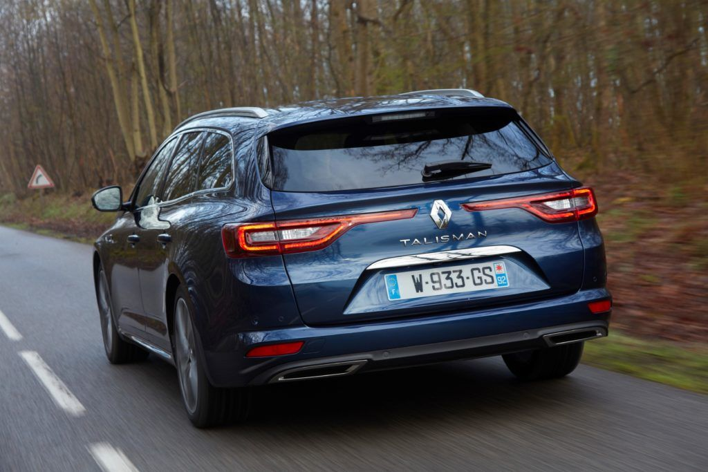 renault talisman grandtour: with a folded rear seat bench we get