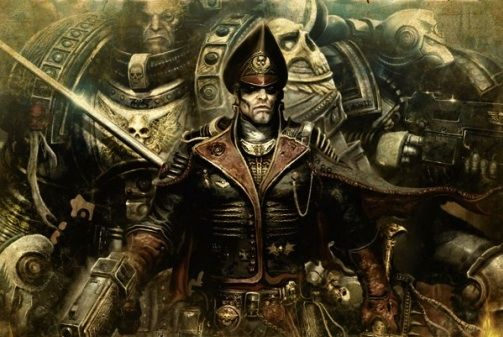 Atamajakki Commissar Ciaphas Cain And A Pair Of Space Marines From The Reclaimers Chapter Cropped Cover From Ciaphas C Warhammer Art Warhammer Warhammer 40k