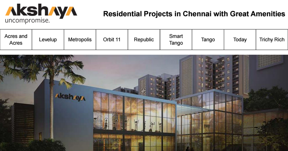 Akshaya homes projects