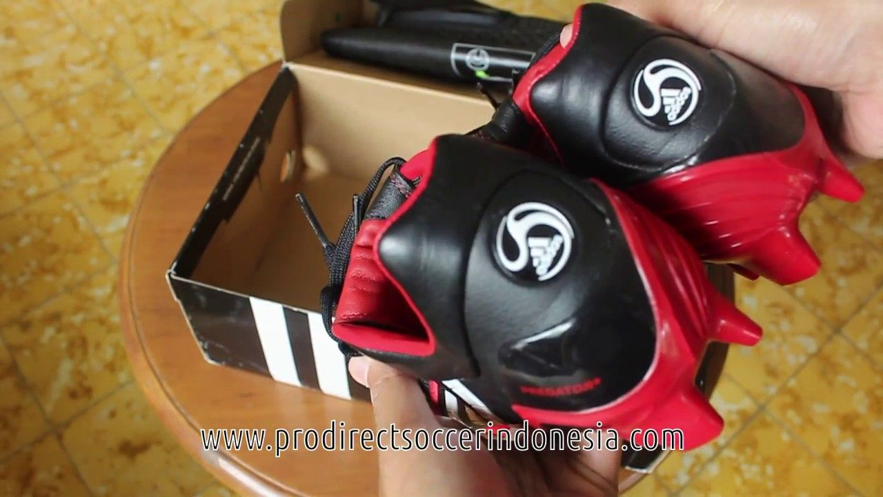 Sepatu Bola Adidas Predator Powerswerve Trx Fg Black Red 019991