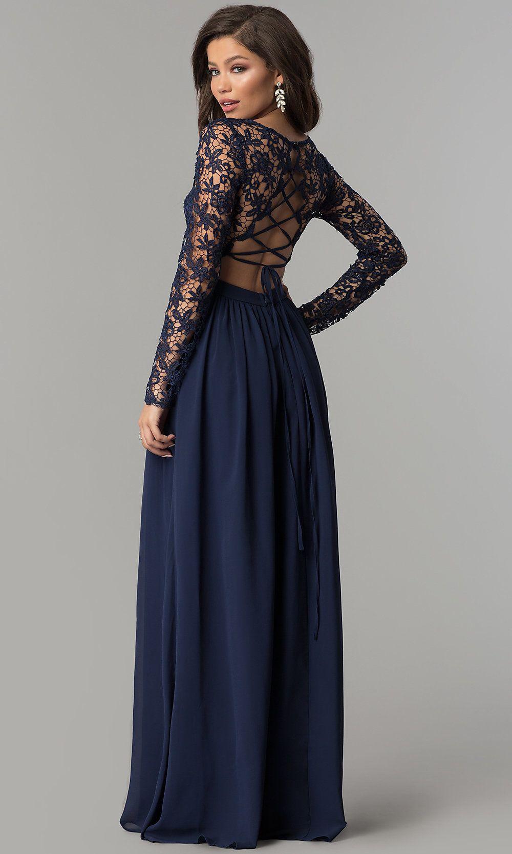 Lace Bodice Long Sleeve Corset Back Prom Dress Prom Dresses Long With Sleeves Long Sleeve Prom Dress Lace Long Sleeve Dress Formal [ 1666 x 1000 Pixel ]