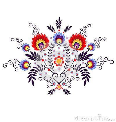 Polish Folk Inspiration Traditional Pattern Ebroidery Tatuaze