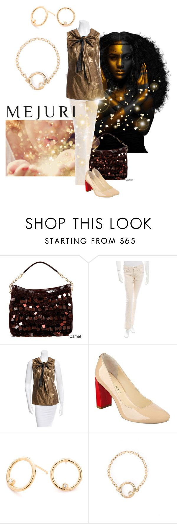 """""""A touch of gold"""" by maria-kuroshchepova ❤ liked on Polyvore featuring Nicole Lee, Isabel Marant, Marni, Ivanka Trump, contestentry and jenchaexmejuri"""