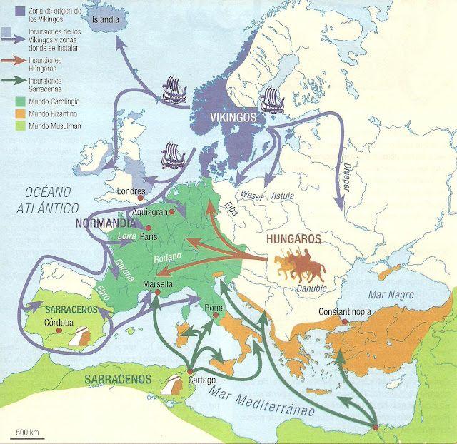 Mapa Europa Siglo Ix.Los Origenes Del Feudalismo Historia Medieval Vikingos Edad Media