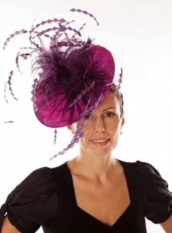 a1d7473f976f6 Snoxell Gwyther - Fascinator (Purple) - Fascinators | Occasion Hats ...