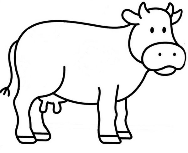 Gabarit vache art vache dessin vache et coloriage vache - Coloriage facile animaux ...