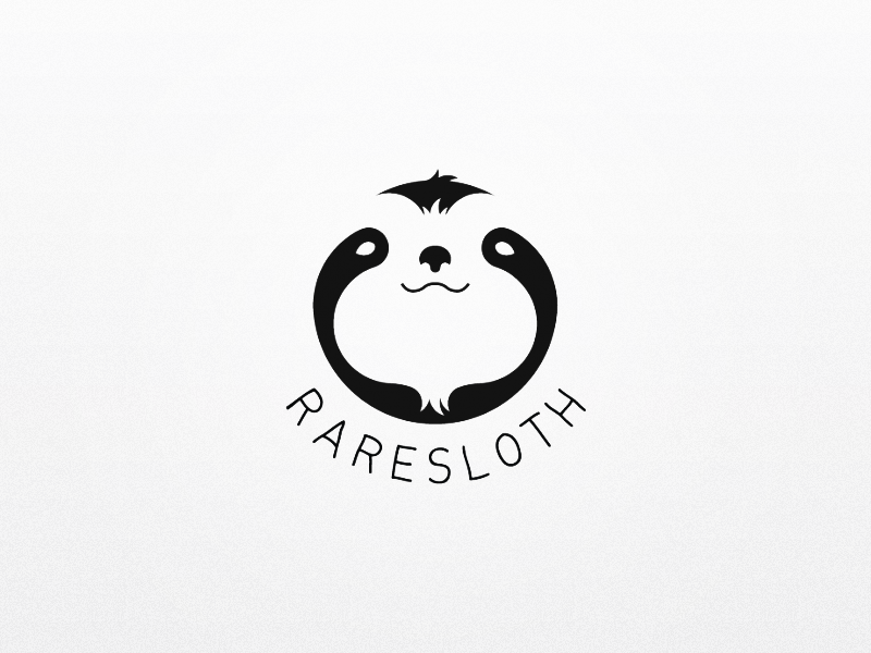 Raresloth Logo Sloth drawing, Panda icon, Animal logo