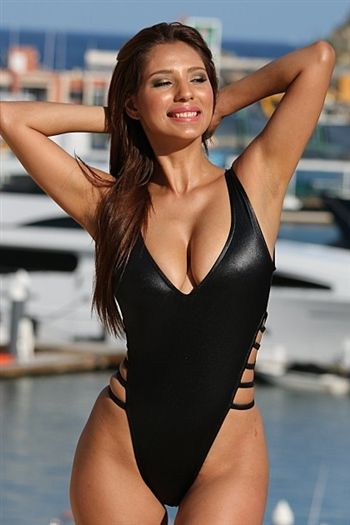 834aaf8c7a Sexy cire black one piece swimsuit that has that