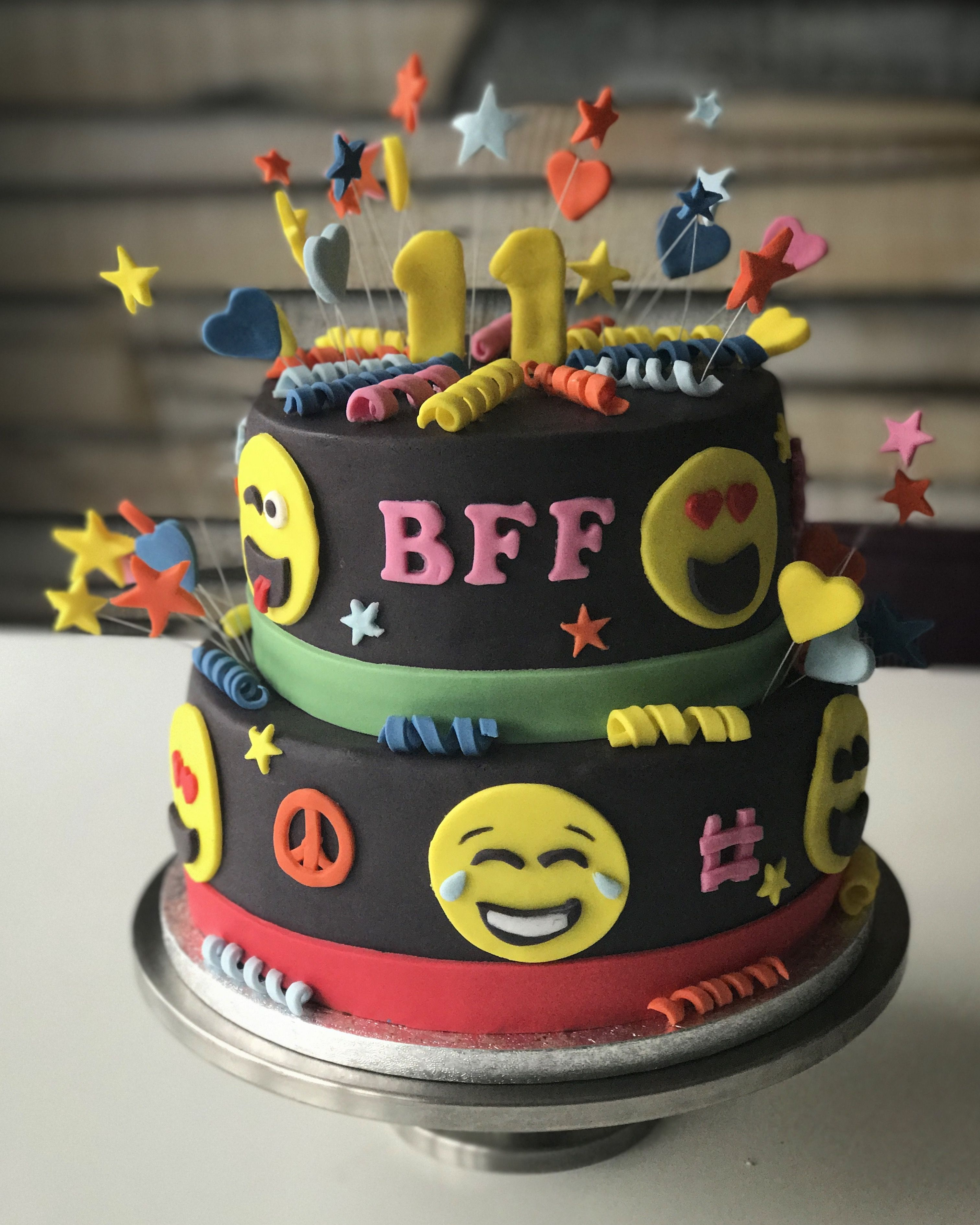 Birthday smiley cake for my 11 year old girl Marit!