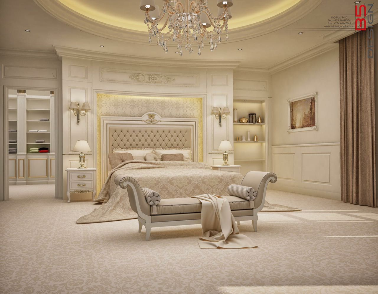 master bedroom design private villa doha qatar on dreamy luxurious master bedroom designs and decor ideas id=37891