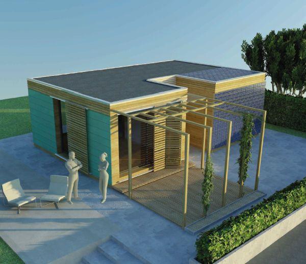 maison modulaire pr fabriqu e contemporaine cologique modeko riko haus future house ideas. Black Bedroom Furniture Sets. Home Design Ideas