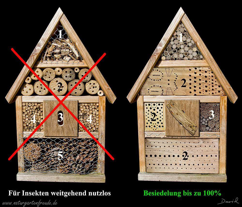 Insektennisthilfe Insektenhotel Nisthilfe Negativbeispiel aus dem
