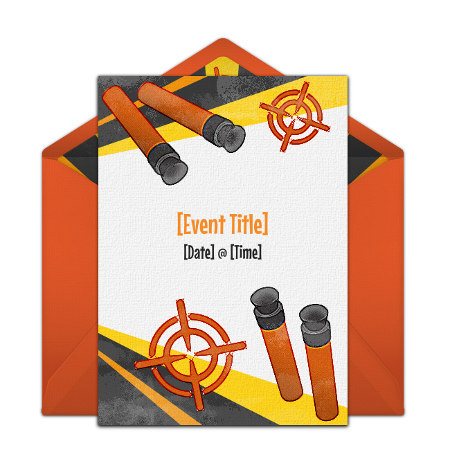 One Of Our Favorite Free Birthday Party Invitations Target Blast Easily Personalize And Send Via Email For A Nerf