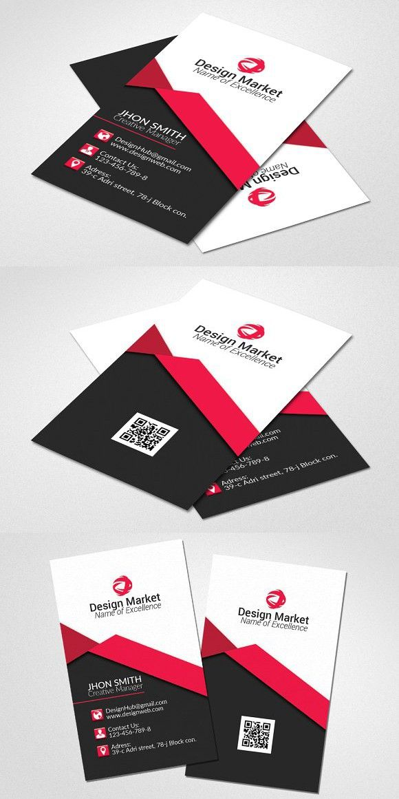 Vertical Business Card Template Medical Infographic