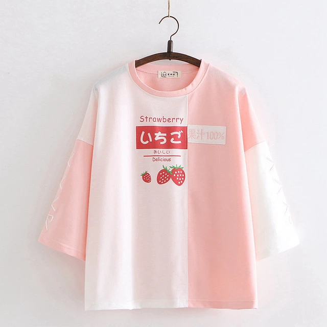 Japanese Two-Toned Fruit Long Sleeve T-shirt