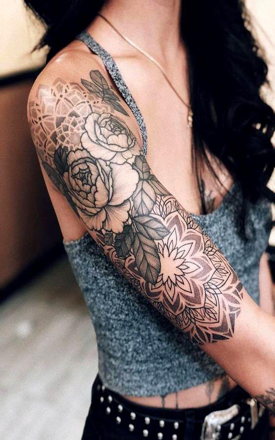 Photo of Idées de tatouage FLEUR NOIRE ET BLANCHE ATTOO #flowertattoos – Designs de tatouages de fleurs