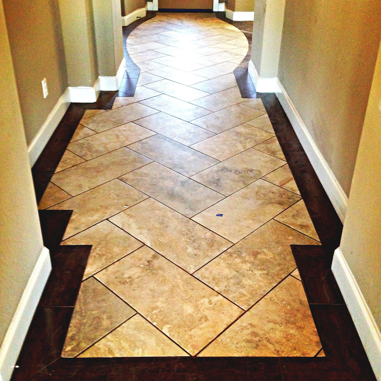 using wood like tile to create a border