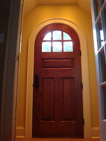 C416rt Round Top Glass Panel Door Glass Panel Door Arched Doors