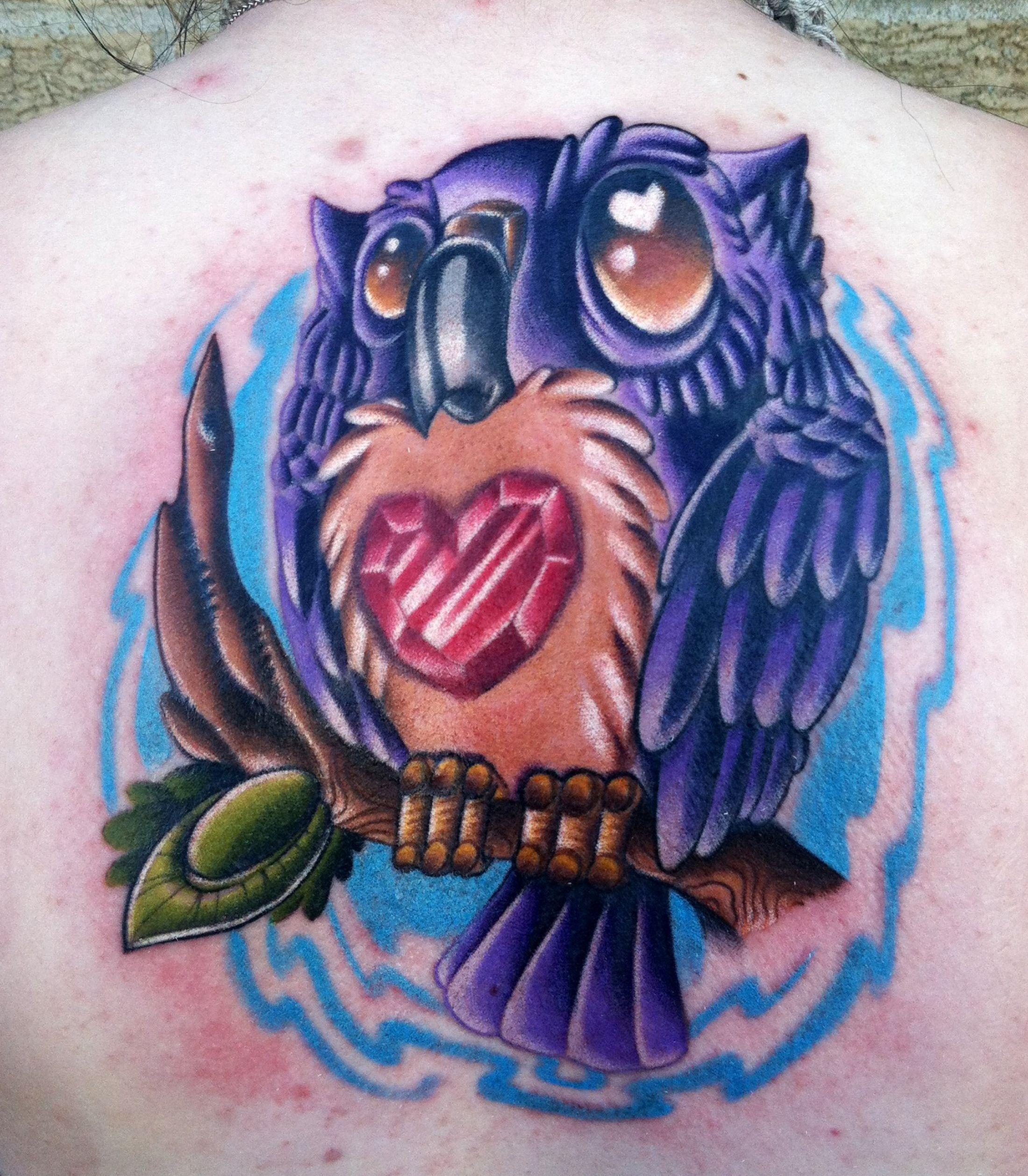 New school tattoo design - New School Owl Tattoo Designs New School Full Color Tattoos