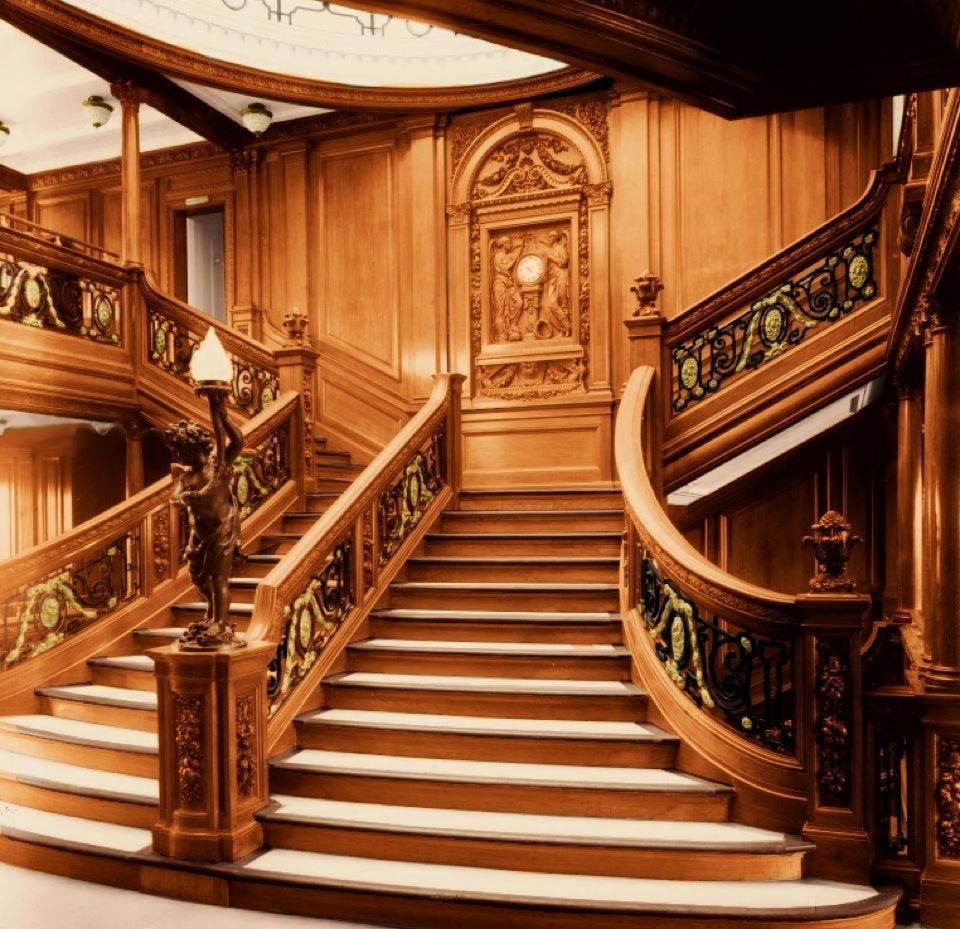 Inside Titanic 2: Grand Staircase Color. (This Image Copyright R.G