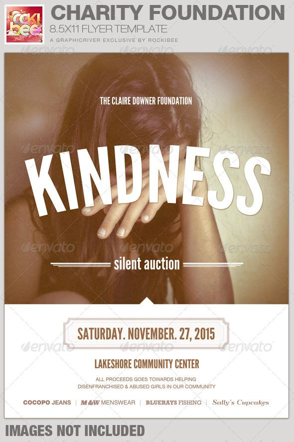 this charity foundation event flyer template is sold exclusively on