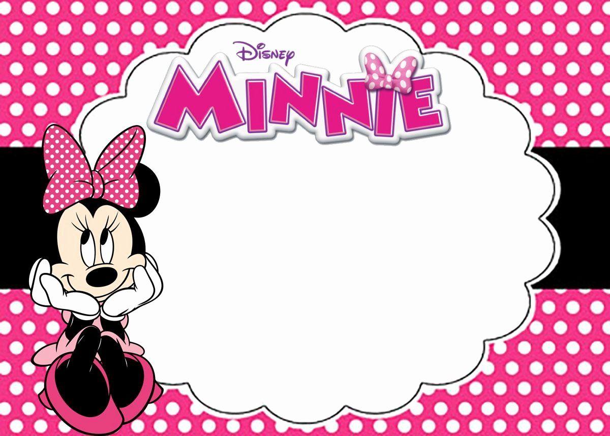 Minnie Mouse Birthday Card Template Inspirational Free Printable Minnie Mouse Pinky Birthd Em 2020 Convite Minie Rosa Convite De Aniversario Convite Aniversario Minnie