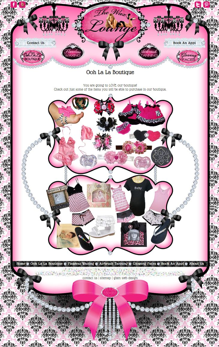 Girly Salon Website Design | Cute Websites and Website Templates ...
