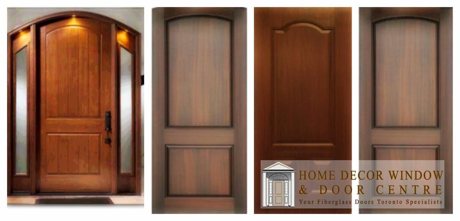 Think These Wood Grain Fiberglass Door Designs Look The Same Think