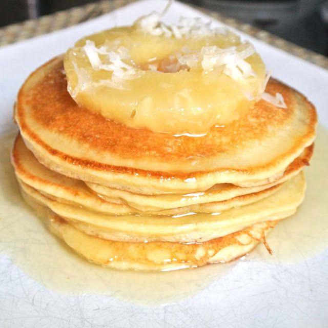 Made with coconut flour and GF all purpose flour - Gluten Free Piña Colada Pancakes