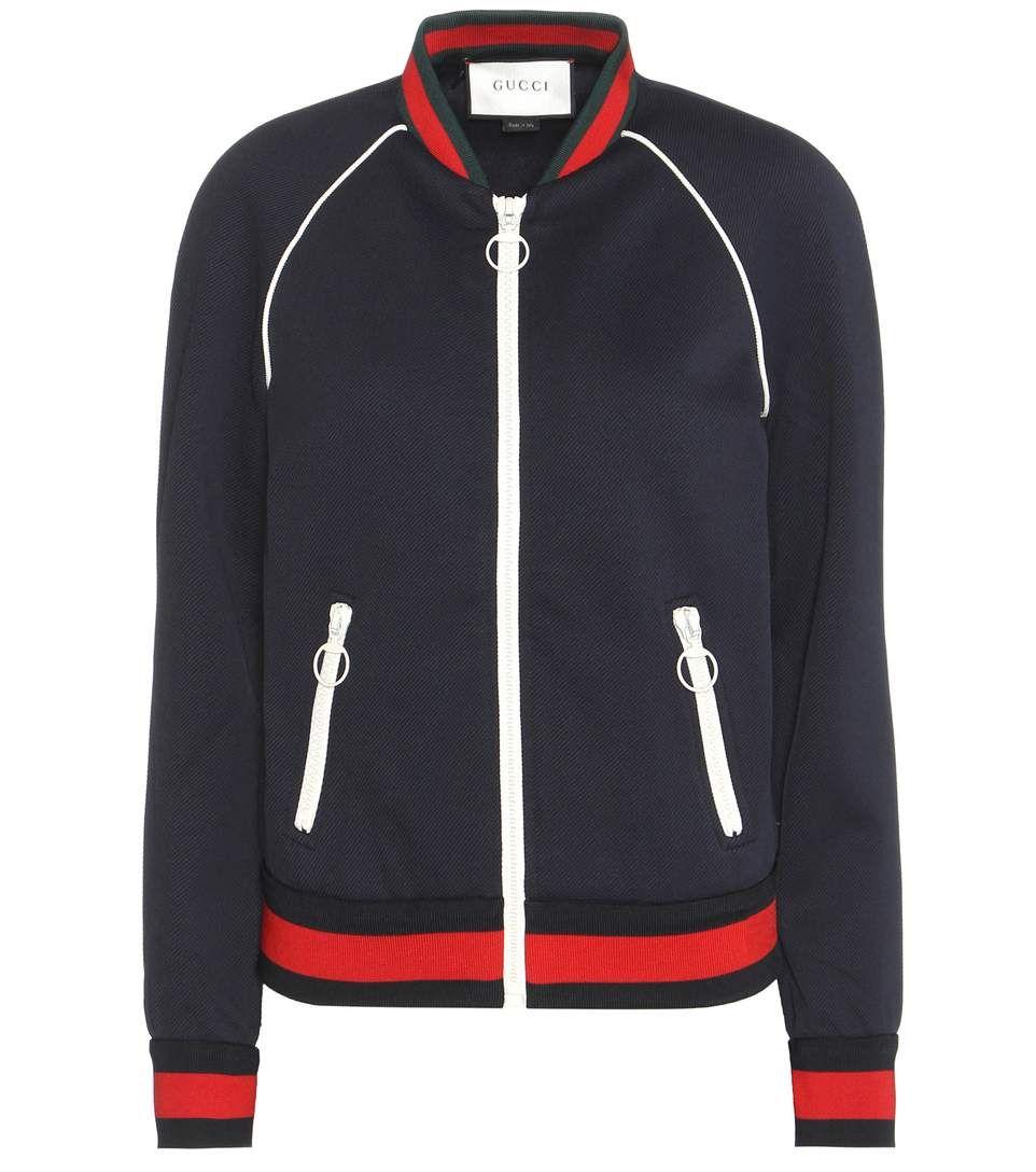 Gucci - Veste bomber bleu marine, rouge et verte   What I like this ... de4d17c0e08