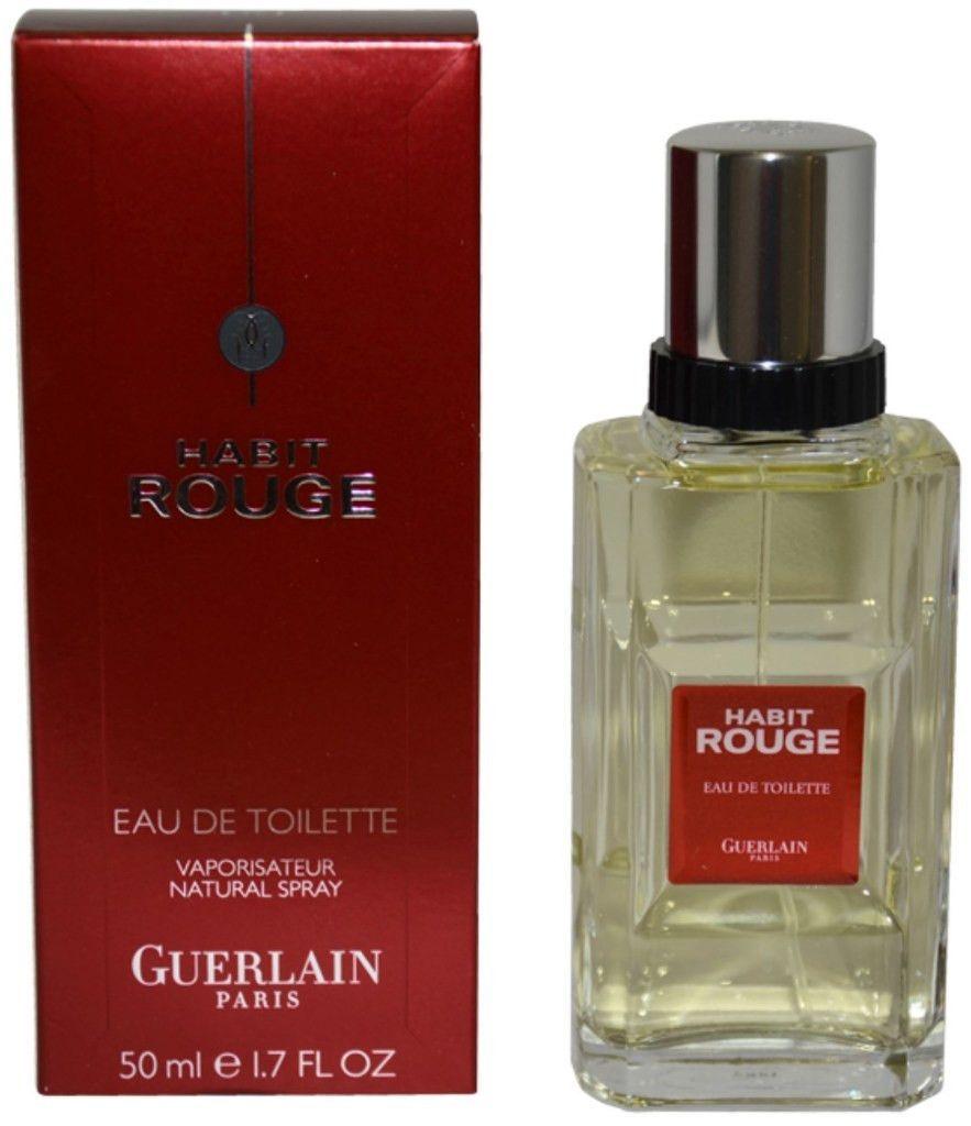 Guerlain Habit Rouge Edt Spray 1 7 Oz Eau De Toilette Guerlain Perfumery