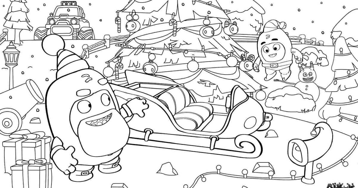 Find The Best Oddbods Coloring Pages Pdf For Kids For Adults Print All The Best 7 Oddbods Coloring Christmas Coloring Pages Coloring Pages Spider Coloring Page