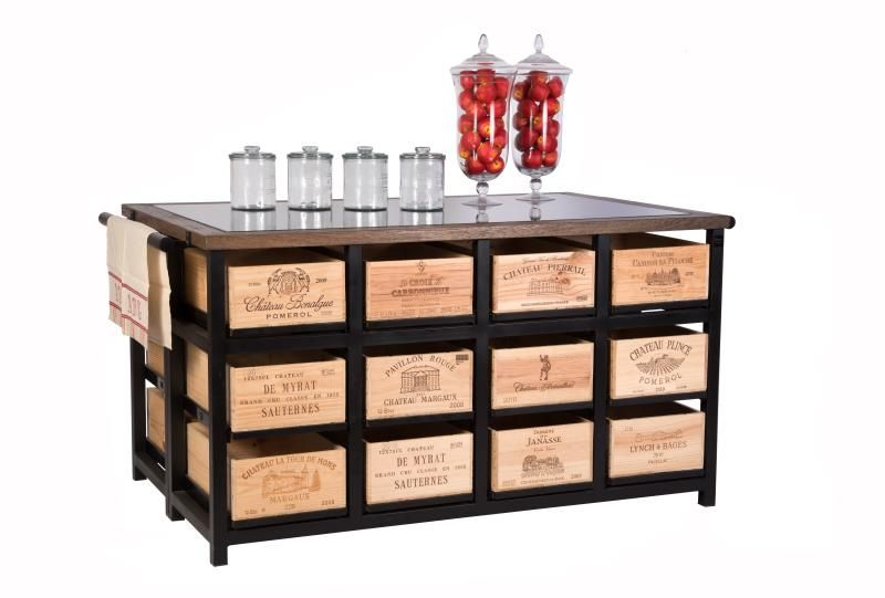 Hobbs Germany The Saint Julien 24 Drawer Island Cabinet From The Bordeaux Collection By Hobbs Germany The Saint Julian 24 Drawer Island Cabinet With Granite