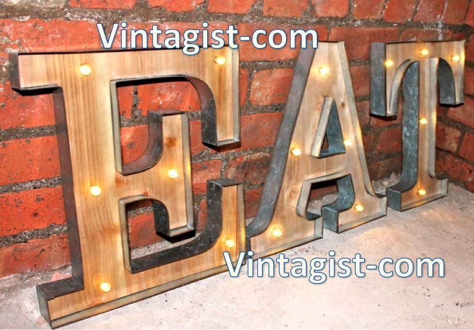 Marquee BAR Vintage Light Up Objects