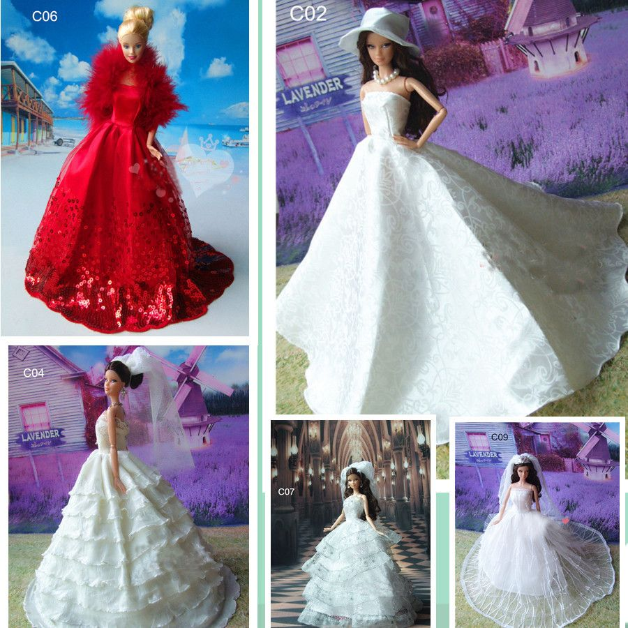 Handmade Vintage Barbie Wedding Dresses