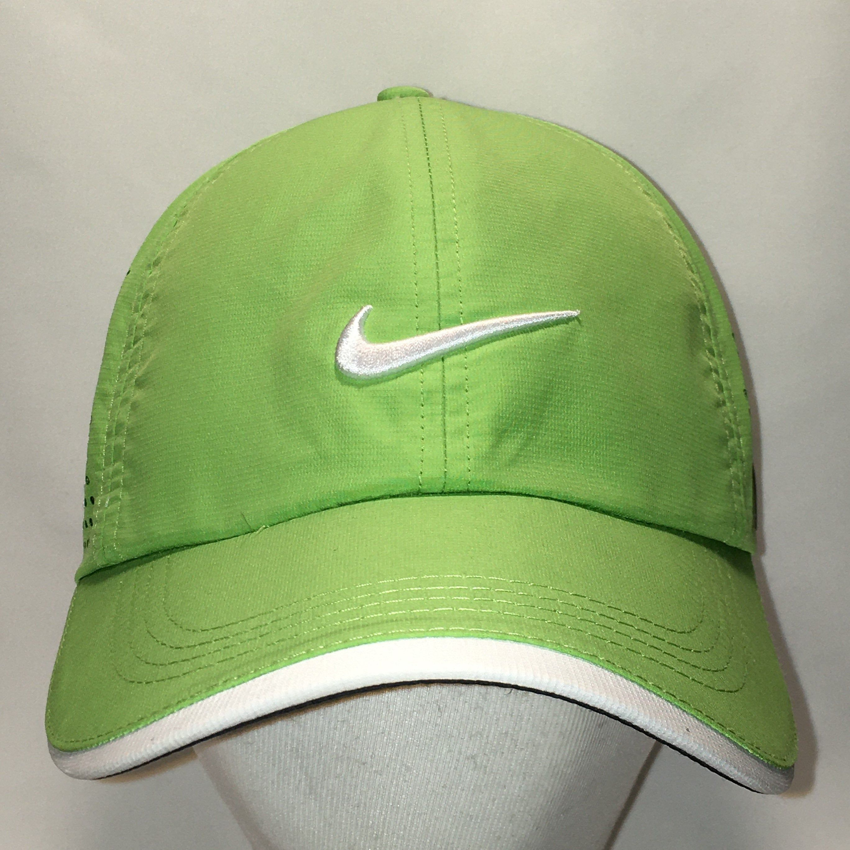 Golf Hat Nike Baseball Cap Dad Hats Lime Green White Swoosh Polyester Breathable Lightweight Sports Caps Cool Gifts For Men T85 Jl0095 Dad Hats Golf Hats Baseball Cap