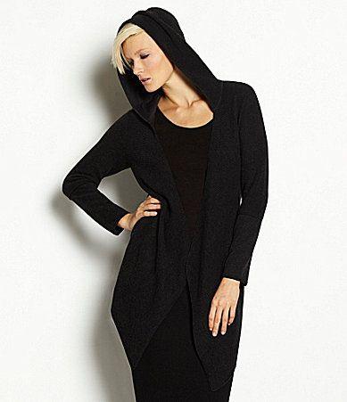 Eileen Fisher Organic Cotton Textured Hooded Cardigan #Dillards ...