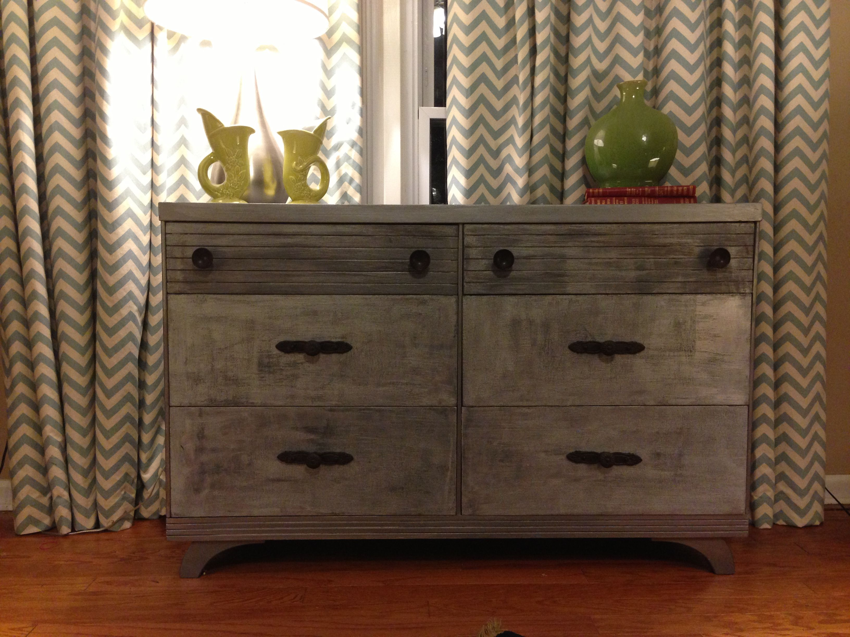 Martha Stewart textured metallic paint and glaze Dressers