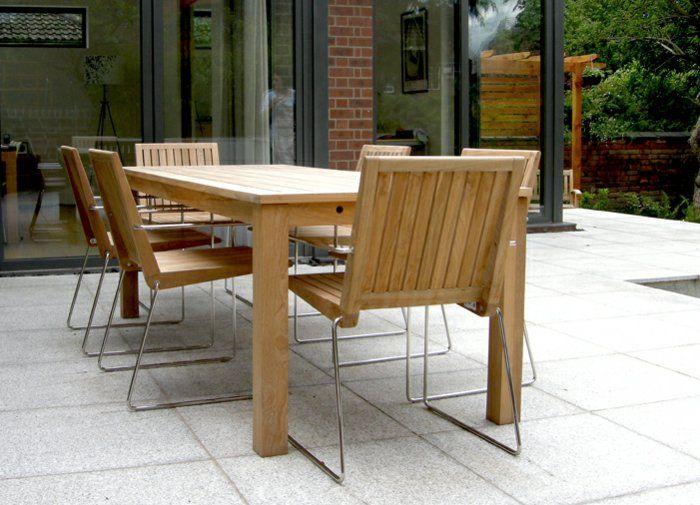 Schön Gartensessel Holz Modernes Design Hölzerner Gartentisch Garten Gestalten  Ideen