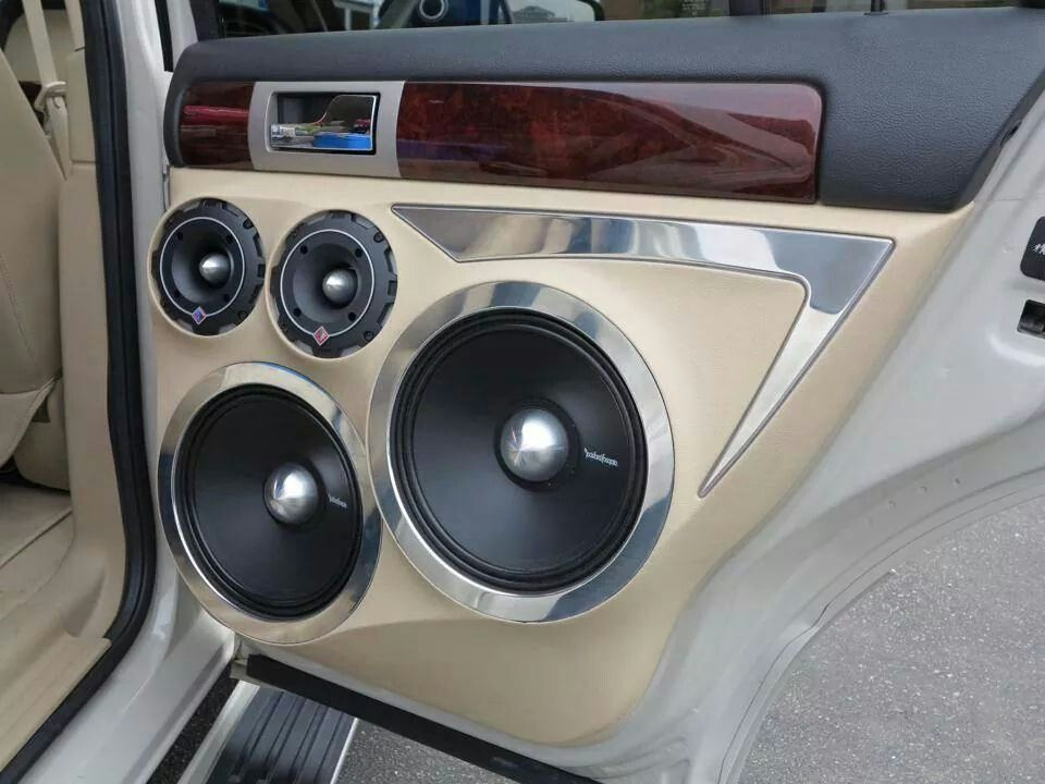 Large Door Speakers Car Audio Installation Custom Car