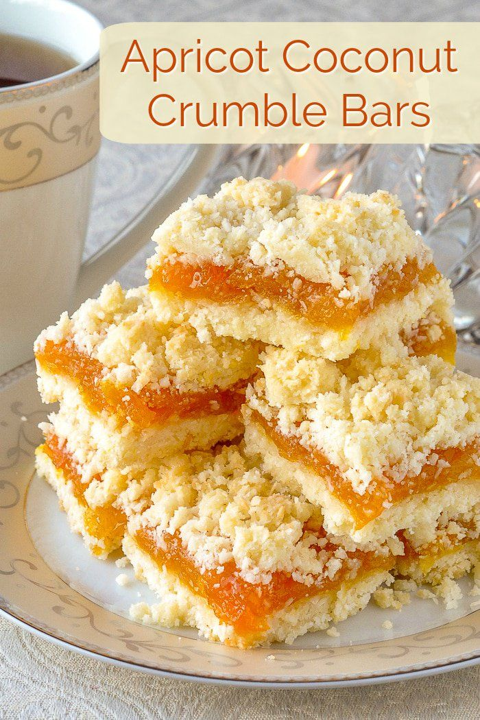 Apricot Coconut Crumble Bars - a scrumptious flavour combination! -   19 desserts Bars dads ideas
