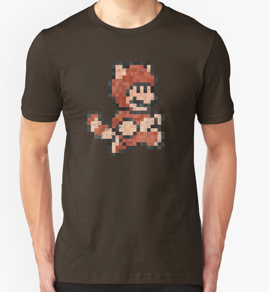 """Super Mario Tanooki Vintage Pixels"" T-Shirts & Hoodies by Lidra 